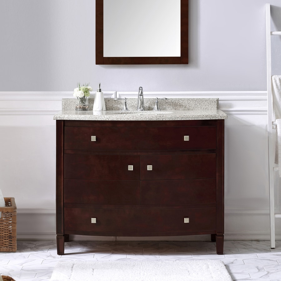 OVE Decors Georgia Tobacco Undermount Single Sink Birch Bathroom Vanity with Granite Top (Common: 42-in x 22-in; Actual: 42-in x 22-in)