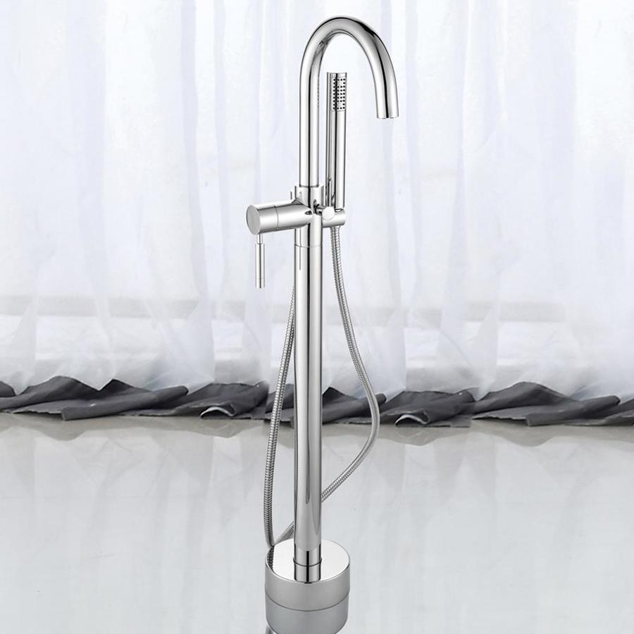 Shop Ove Decors Athena Chrome 1 Handle Adjustable Freestanding Bathtub Faucet At
