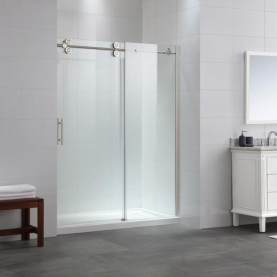 OVE Decors Mallory 56-in to 59.5-in W x 78.7-in H Frameless Sliding Shower Door