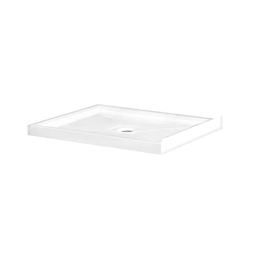 OVE Decors Savannah 40-in L x 32-in W White Acrylic Square Corner Shower Base