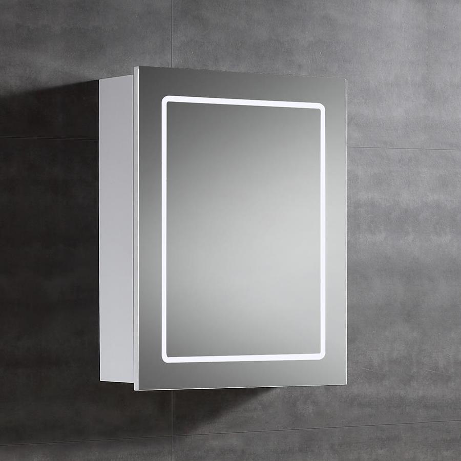 OVE Decors Cassini 20-in x 25-in Rectangle Surface Mirrored Mdf Medicine Cabinet