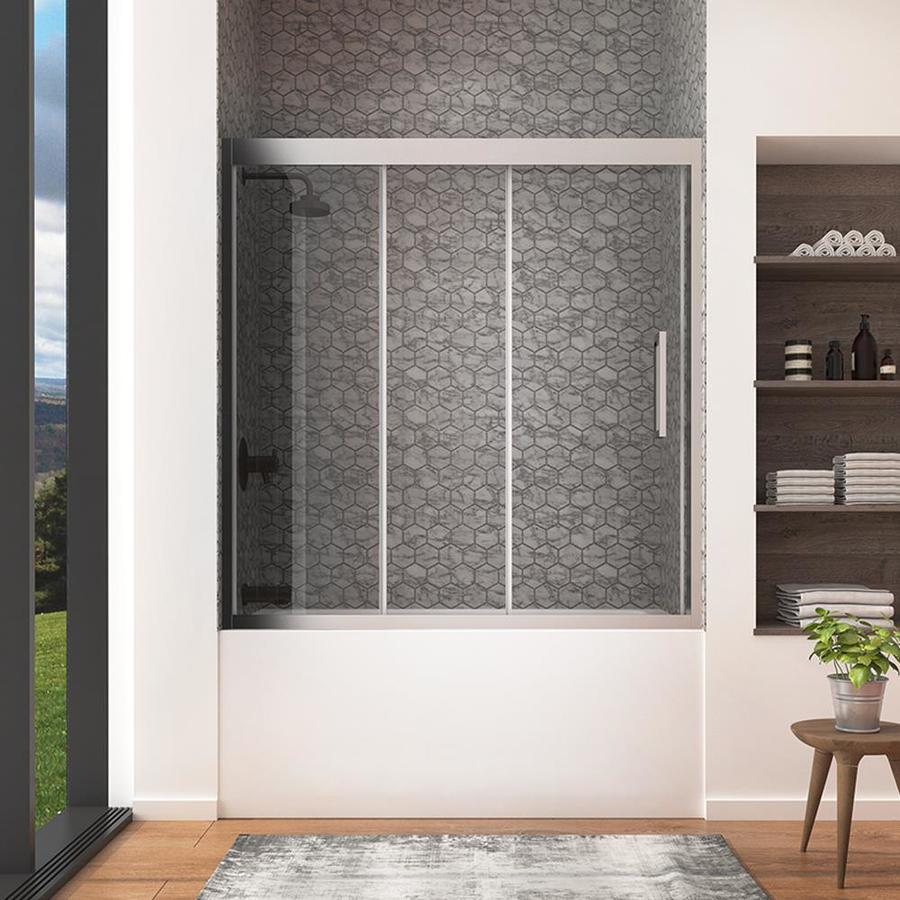 Shop ove decors granada 59 in w x 59 in h frameless for Shower doors for sale