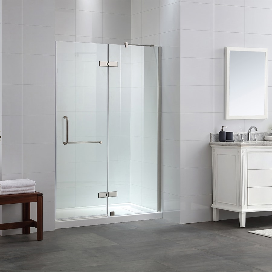 OVE Decors Shelby 46.25-in to 46.75-in Frameless Hinged Shower Door