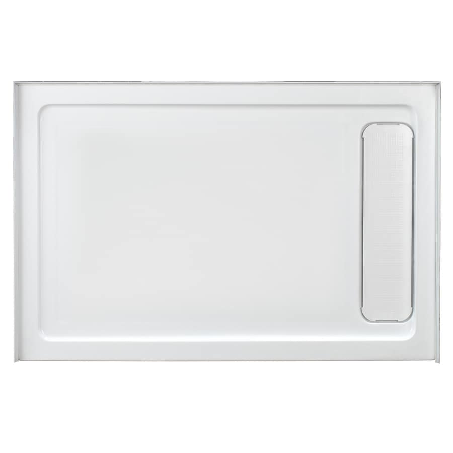 White Acrylic Shower Base (Common: 36-in W x 48-in L; Actual: 36-in W x 48-in L) Product Photo