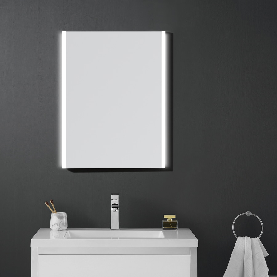 OVE Decors Villon 24-in W x 31-in H Rectangular Frameless Bathroom Mirror with Hardware and Polished Edges