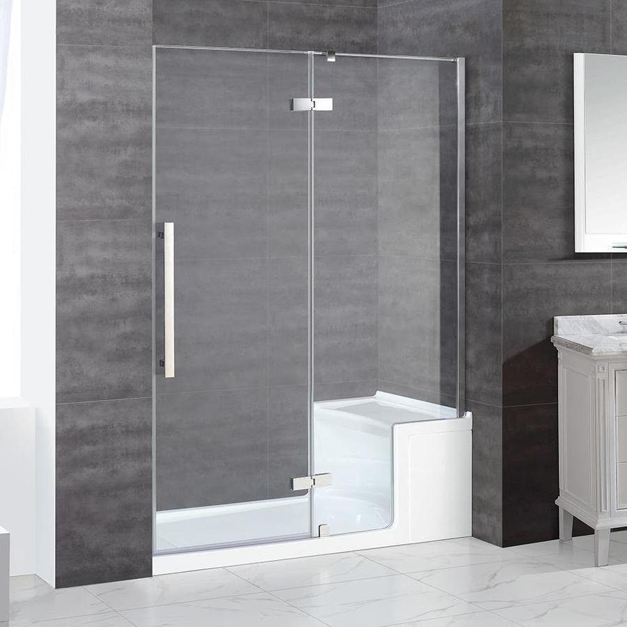 OVE Decors Monterey 58.25-in to 58.75-in Frameless Hinged Shower Door