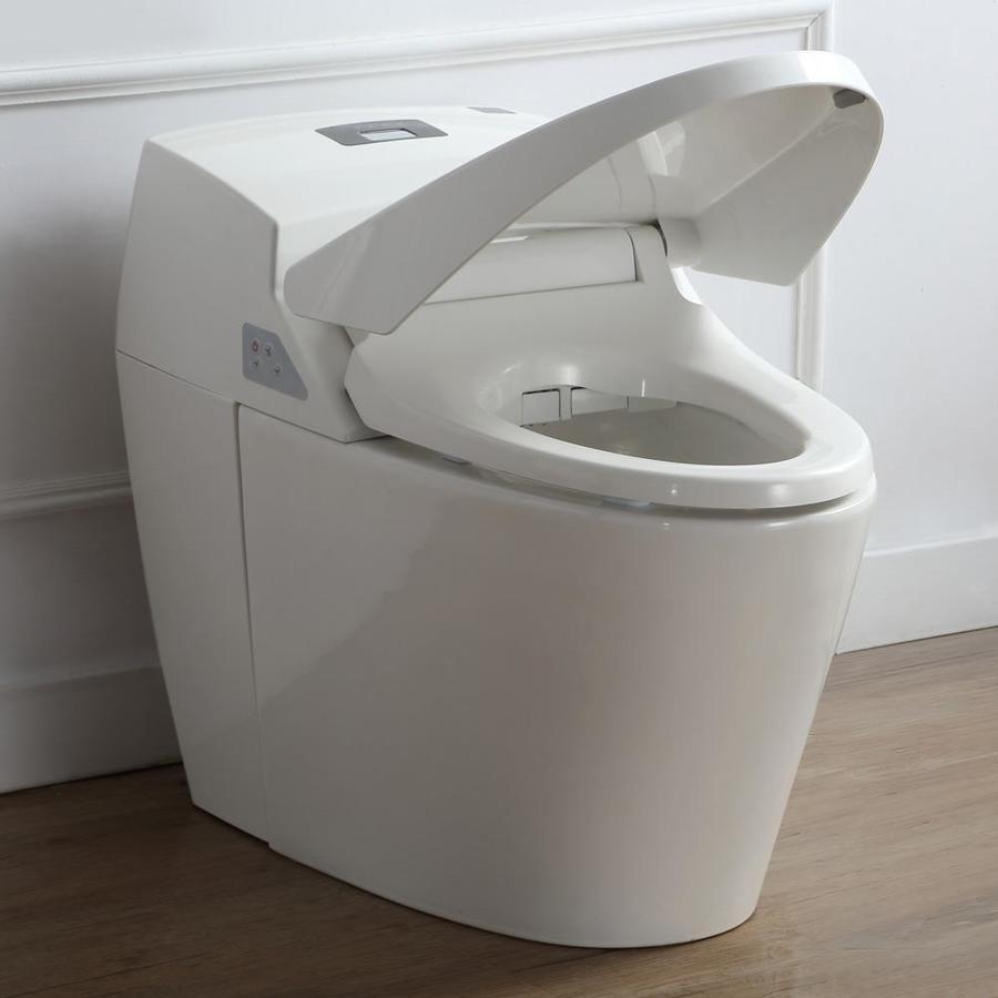 OVE Decors Godfrey White 1.6-GPF (6.06-LPF) 12 Rough-In Round Pressure Assist 2-Piece Standard Height Toilet