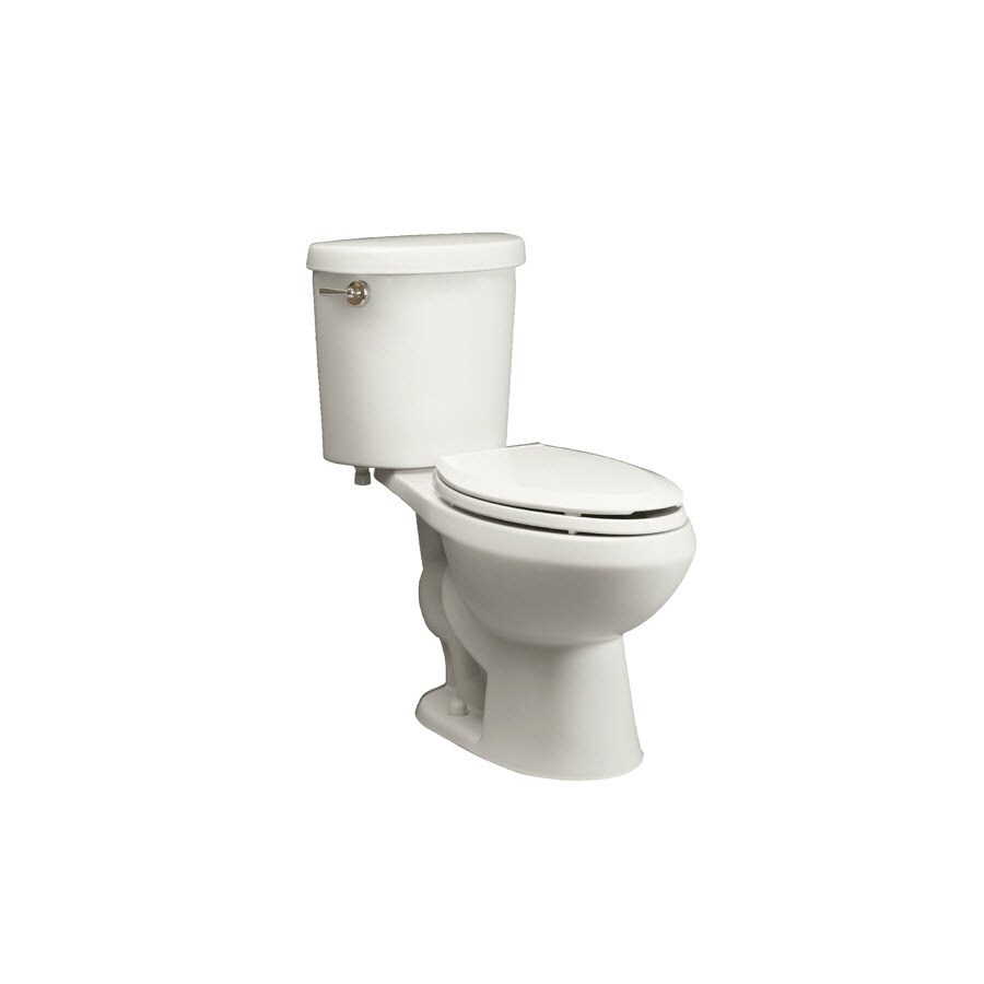 Jacuzzi Perfecta Powerchoice White 1.6/0.9-GPF 12-in Rough-in Watersense Elongated Dual-Flush 2-Piece Comfort Height Toilet