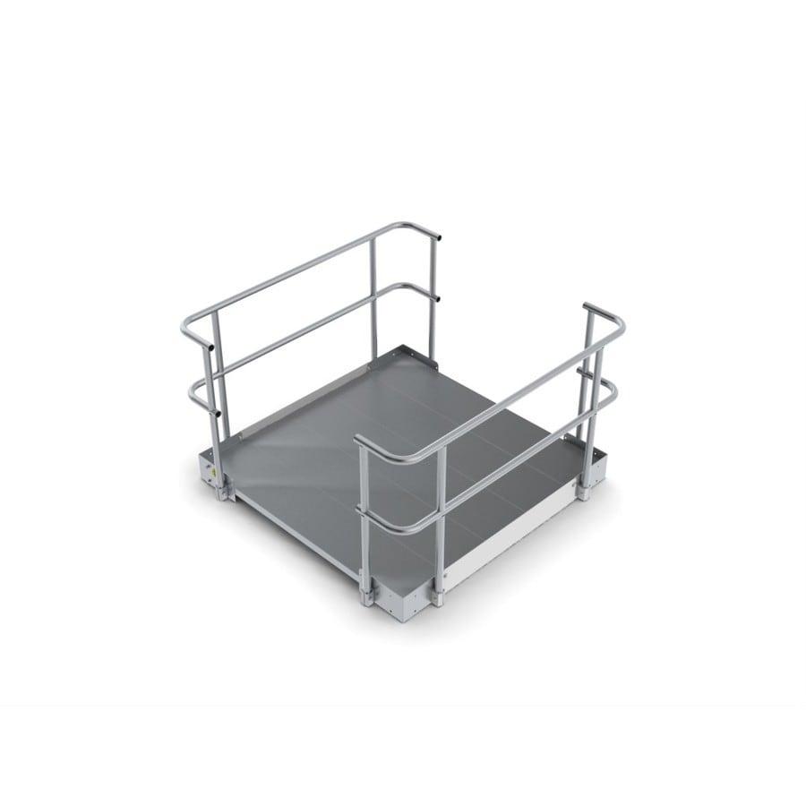 5-ft x 60-in Aluminum Modular Entryway Wheelchair Ramp