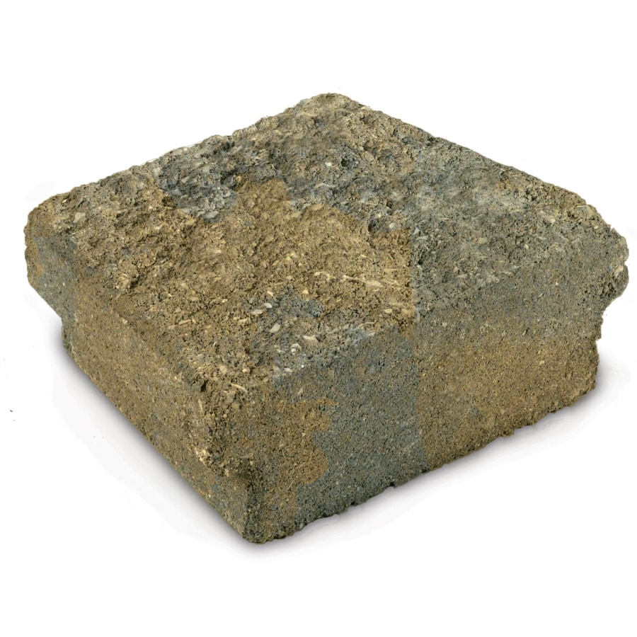 Tan/Charcoal Insignia Concrete Edging Stone (Common: 3-in x 9-in; Actual: 2.9-in H x 8.7-in L)