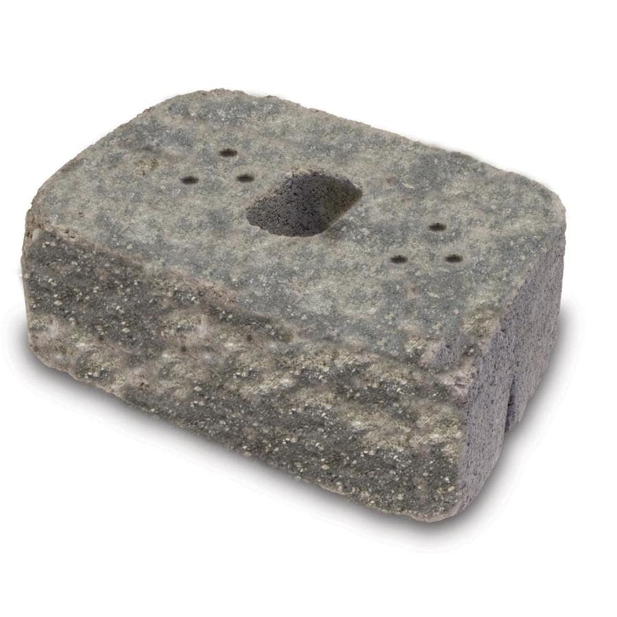 Tan/Charcoal Straight Tumbled Concrete Retaining Wall Block (Common: 16-in x 6-in; Actual: 16-in x 6-in)