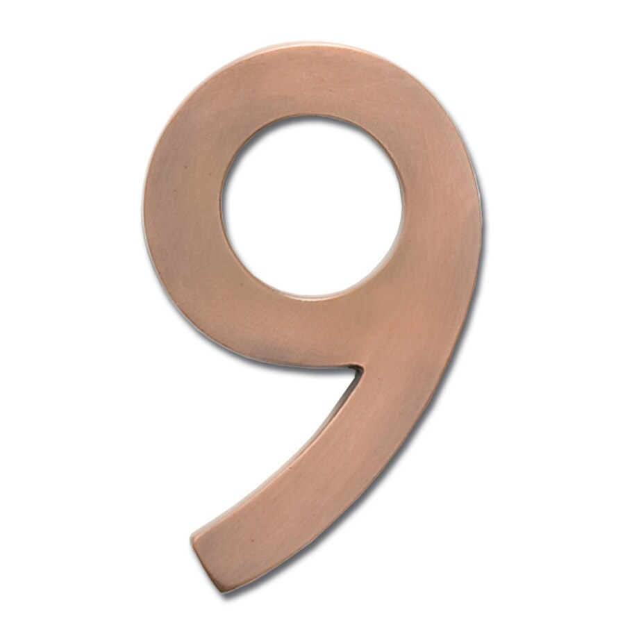 Architectural Mailboxes 4.1-in Aged Copper House Number 9