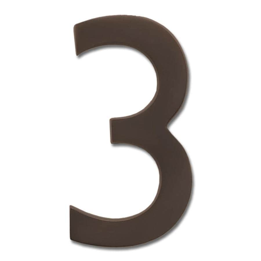 Architectural Mailboxes 3.9-in Aged Copper House Number 3