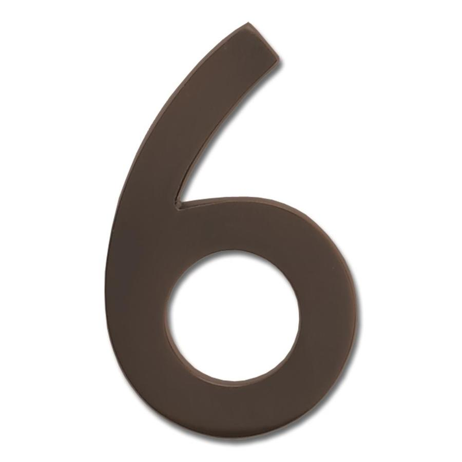 Architectural Mailboxes 4.1-in Aged Copper House Number 6