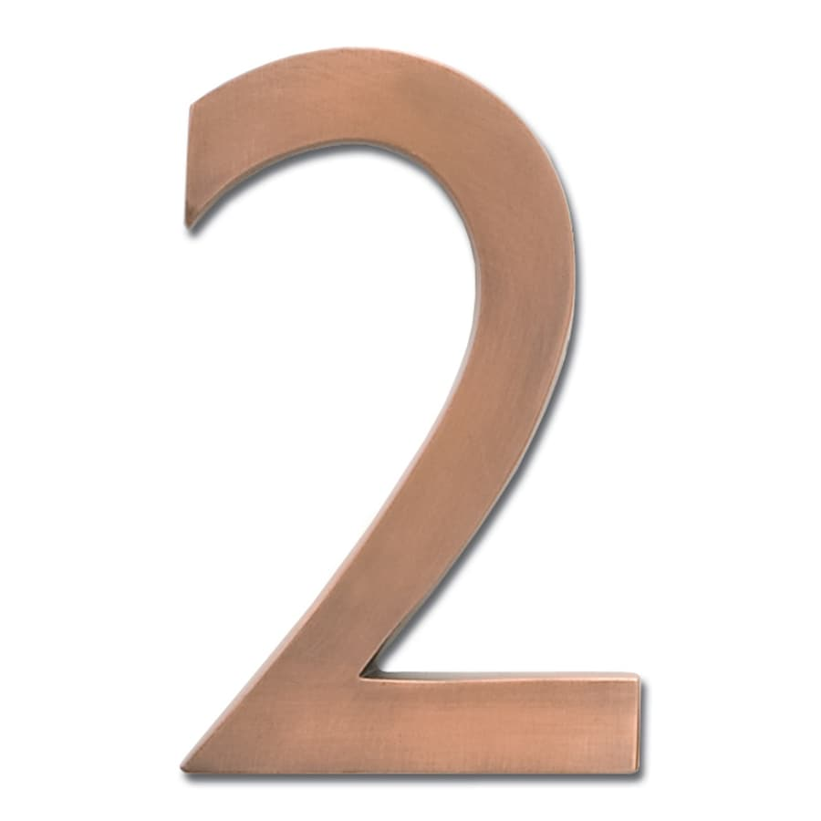 Architectural Mailboxes 5.1-in Aged Copper House Number 2