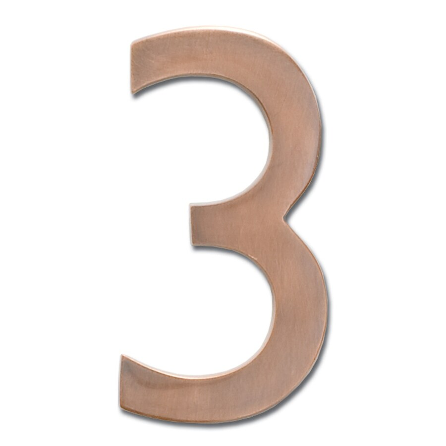 Architectural Mailboxes 5.1-in Aged Copper House Number 3