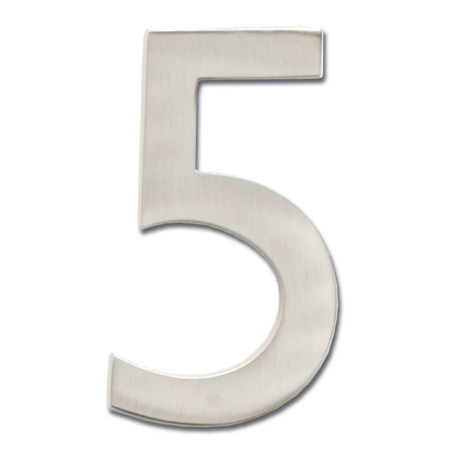 Architectural Mailboxes 5-in Satin Nickel House Number 5