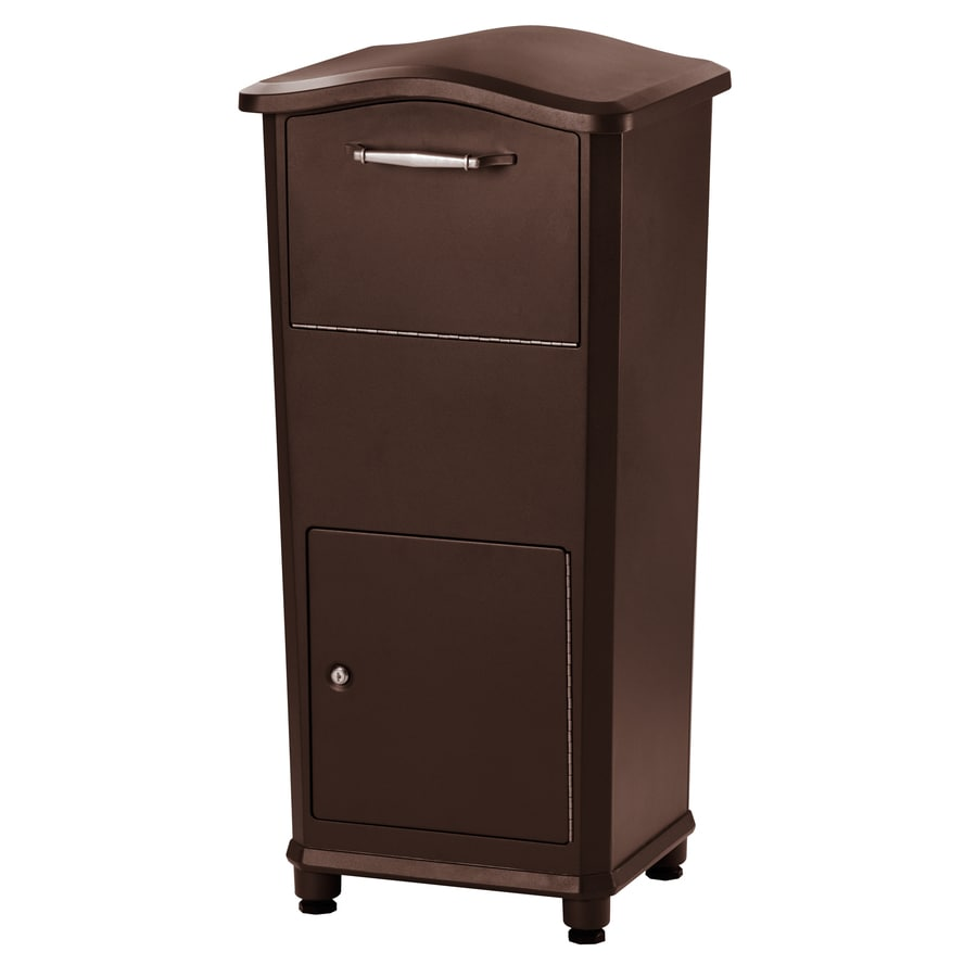 Architectural Mailboxes Elephantrunk 17.8-in x 37.2-in Metal Oil-Rubbed Bronze Lockable Ground Mount Mailbox