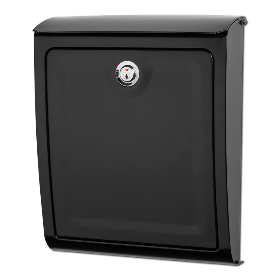 Architectural Mailboxes Sienna 11.2-in x 13.6-in Metal Black Lockable Wall Mount Mailbox