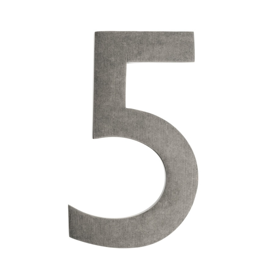 Architectural Mailboxes 4-in Distressed Antique Pewter House Number 5