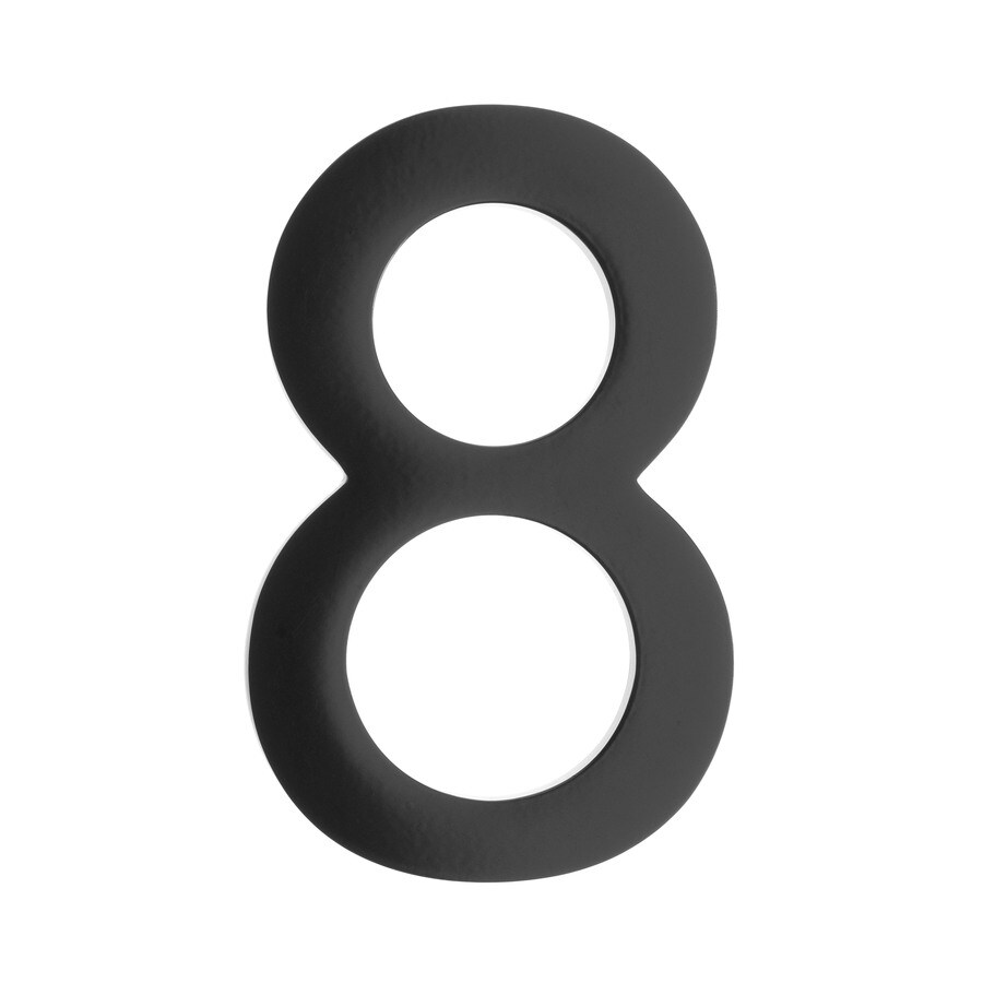 Architectural Mailboxes 3.9-in Black House Number 8
