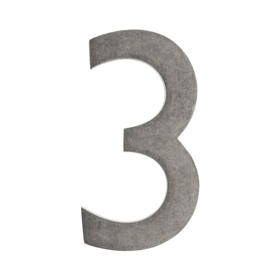 Architectural Mailboxes 5.1-in Distressed Antique Pewter House Number 3