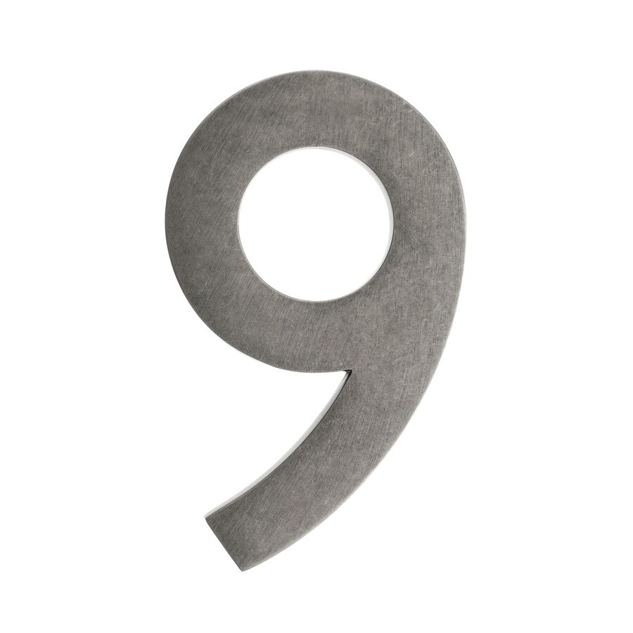Architectural Mailboxes 5.2-in Distressed Antique Pewter House Number 9