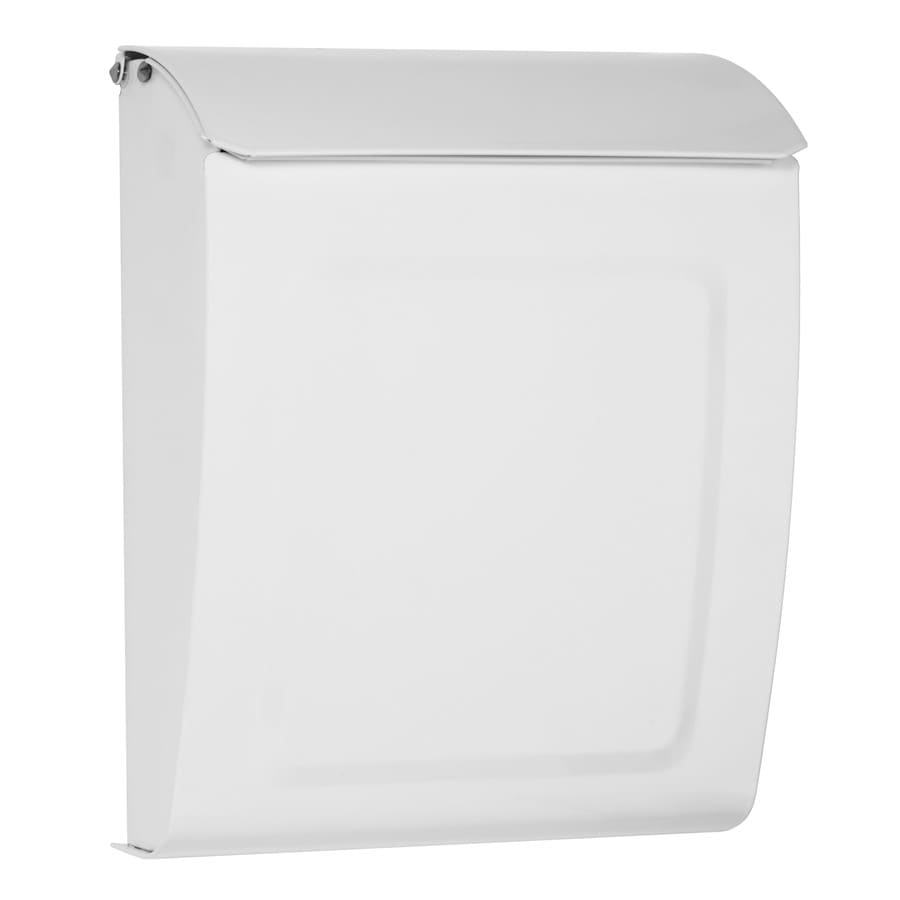 Architectural Mailboxes Aspen 9-in x 11.2-in Metal White Lockable Wall Mount Mailbox