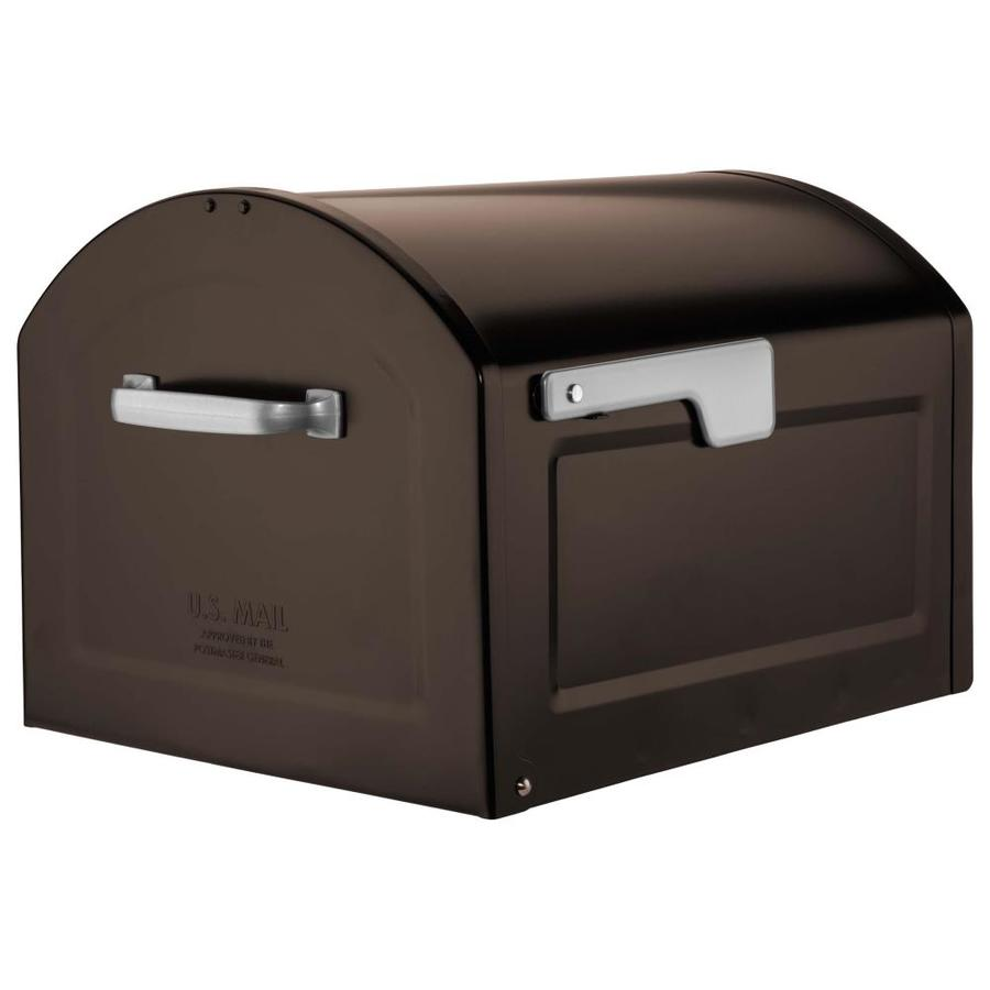 Architectural Mailboxes Centennial 14.2-in x 12.6-in Metal Rubbed Bronze Post Mount Mailbox