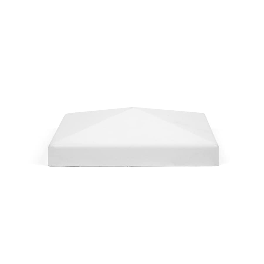 Fiberon HomeSelect White Composite Deck Post Cap (Fits Common Post Measurement: 4-in x 4-in; Actual: 4.3-in x 4.3-in x 4.3-in)