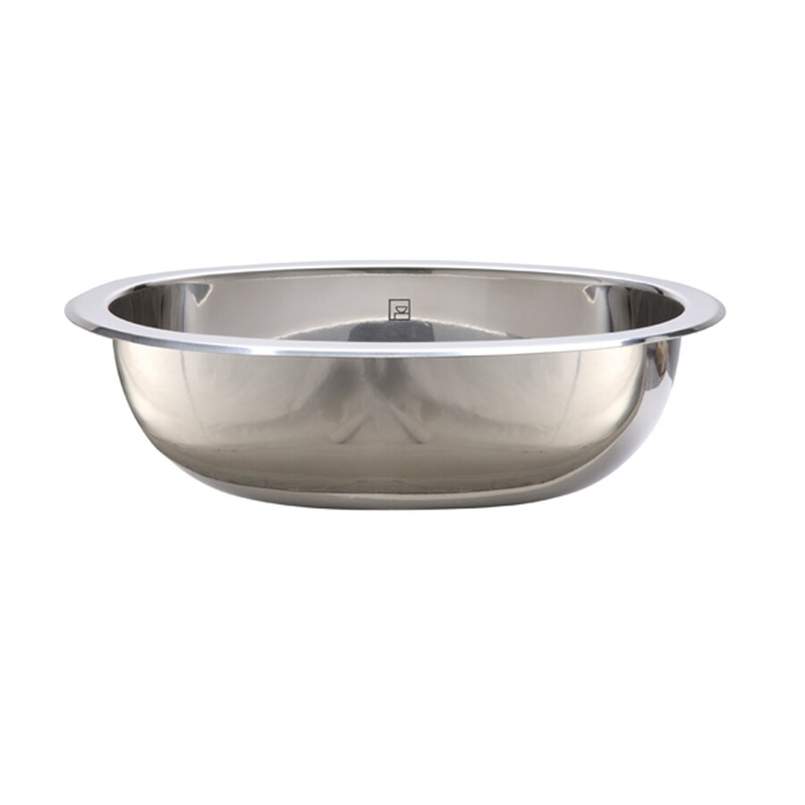DECOLAV Simply Stainless Polished Stainless Steel Undermount Oval Bathroom Sink