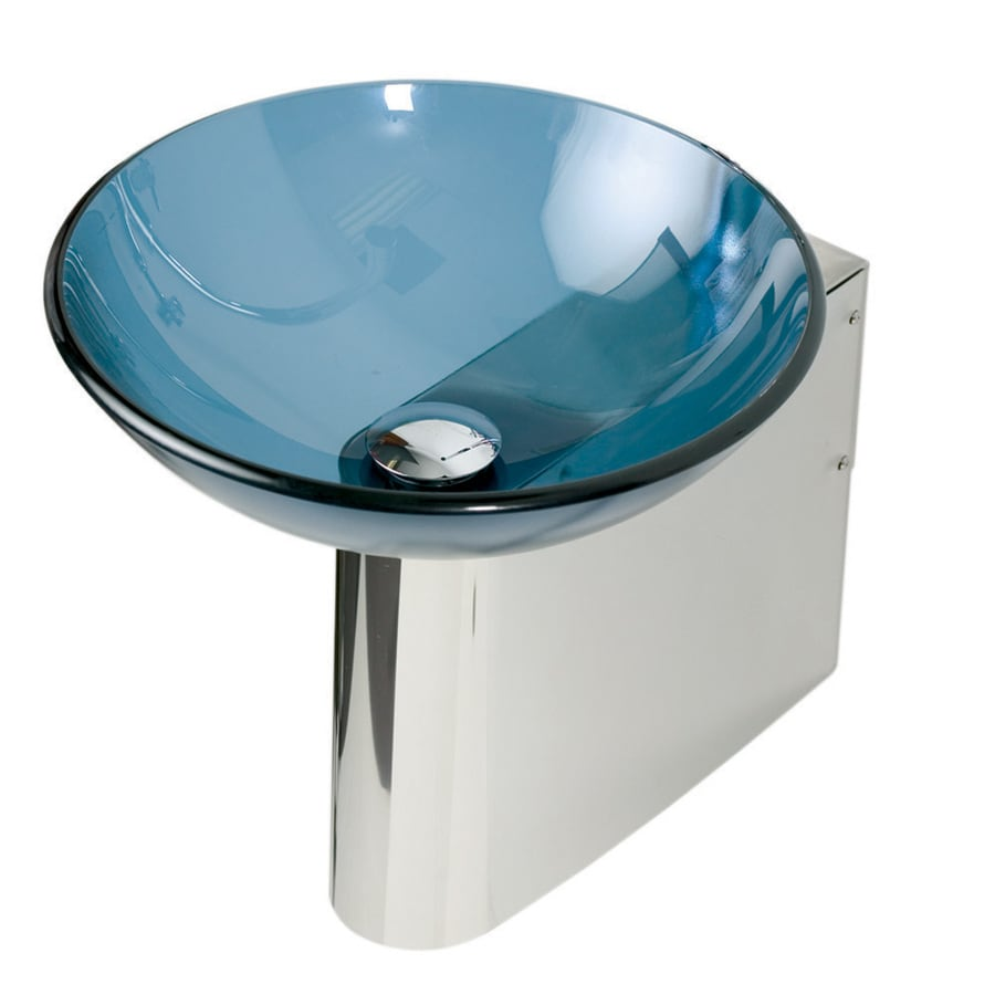 DECOLAV 11-7/8-in H Wall Mounts Polished Stainless Steel Pedestal Sink Base