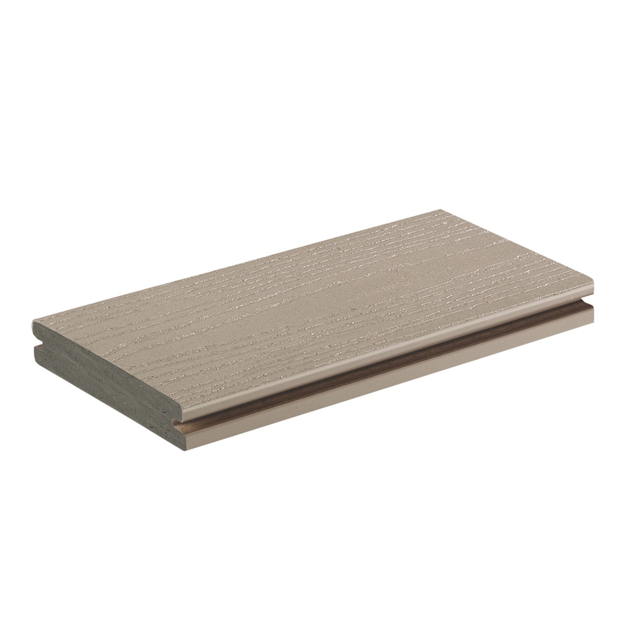 AZEK Harvest Slate Grey Groove PVC Deck Board (Actual: 1-in x 5.5-in x 12-ft)