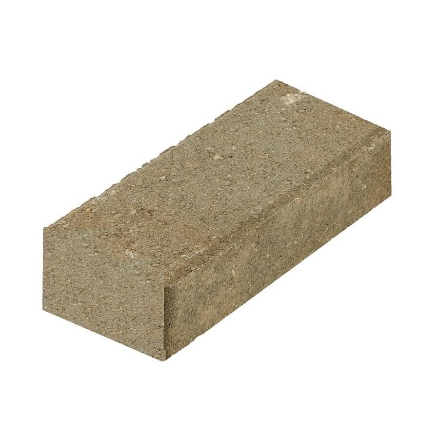 Shop Tan Charcoal Gray Smooth Holland Concrete Paver