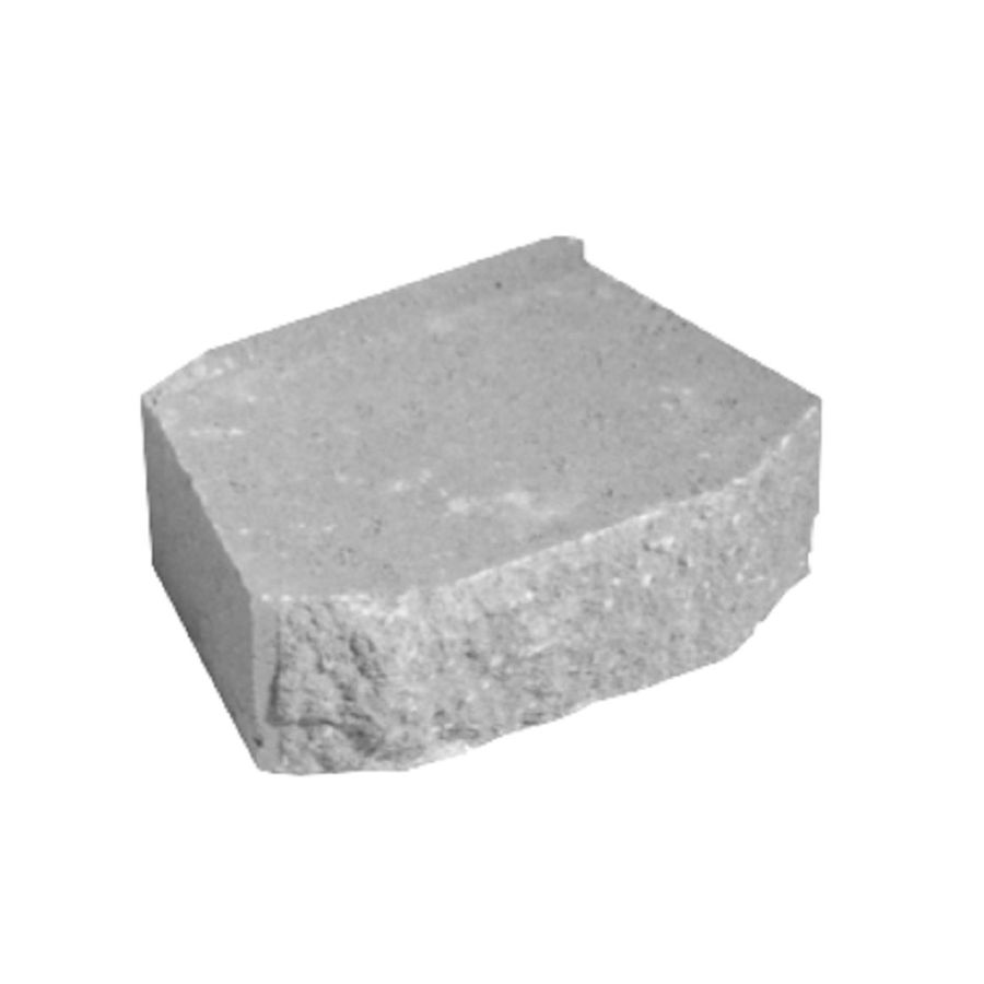 Gray Splitface Beveled Concrete Retaining Wall Block (Common: 12-in x 4-in; Actual: 12-in x 4-in)