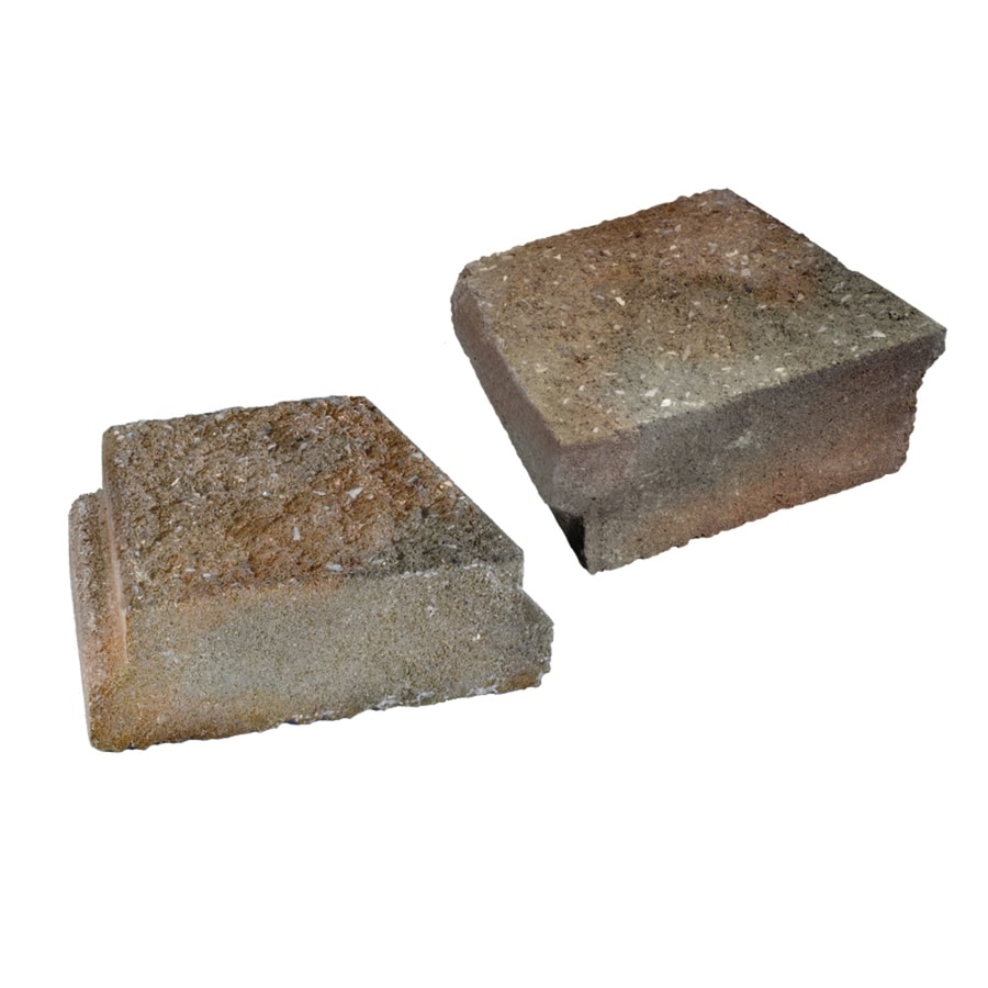 Tan-Gray-Charcoal/Hard Split Texture Insignia Concrete Edging Stone (Common: 3-in x 5-in; Actual: 3-in H x 5-in L)