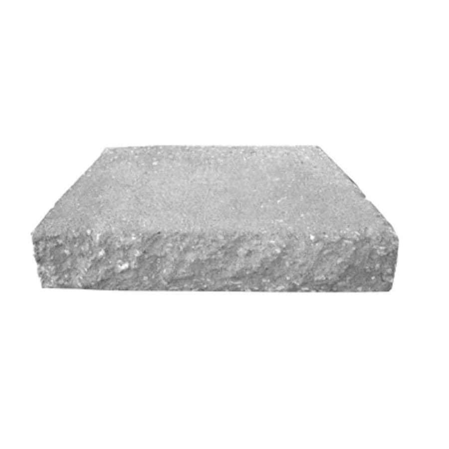 Gray Splitface Straight Concrete Retaining Wall Cap (Common: 12-in x 2-in; Actual: 12-in x 2.38-in)