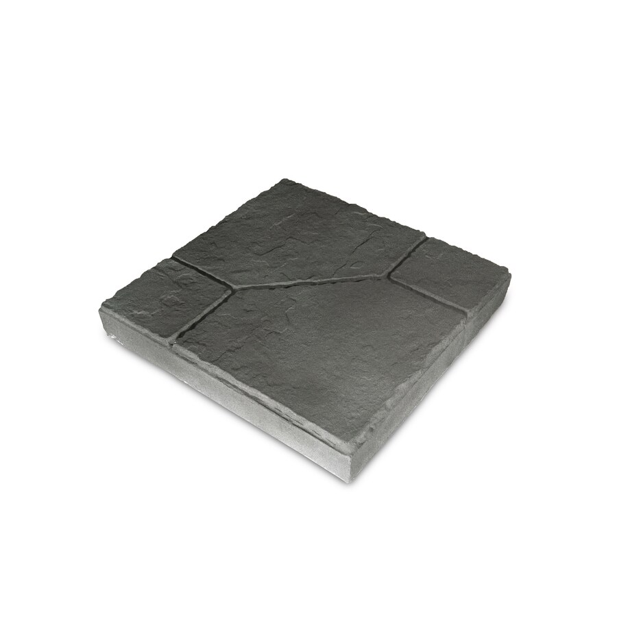 Charcoal Blend/Slate Texture Empire Concrete Patio Stone (Common: 16-in x 16-in; Actual: 16-in x 16-in)