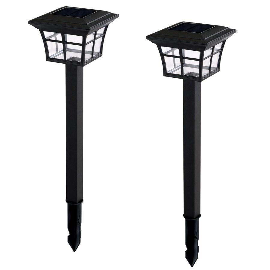 Portfolio 2-Light Black LED Path Light Kit