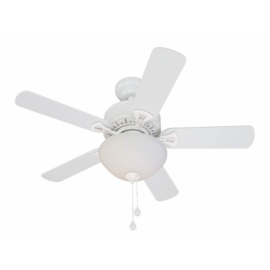 Harbor Breeze 36-in White Downrod Mount Indoor Ceiling Fan with Light Kit