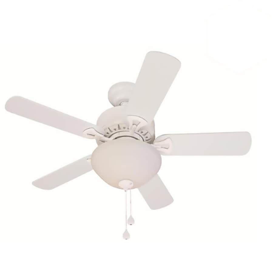 Harbor Breeze Classic 36-in White Downrod or Close Mount Indoor Ceiling Fan with Light Kit