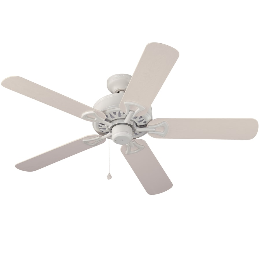 Harbor Breeze 52-in White Downrod or Close Mount Indoor/Outdoor Ceiling Fan ENERGY STAR