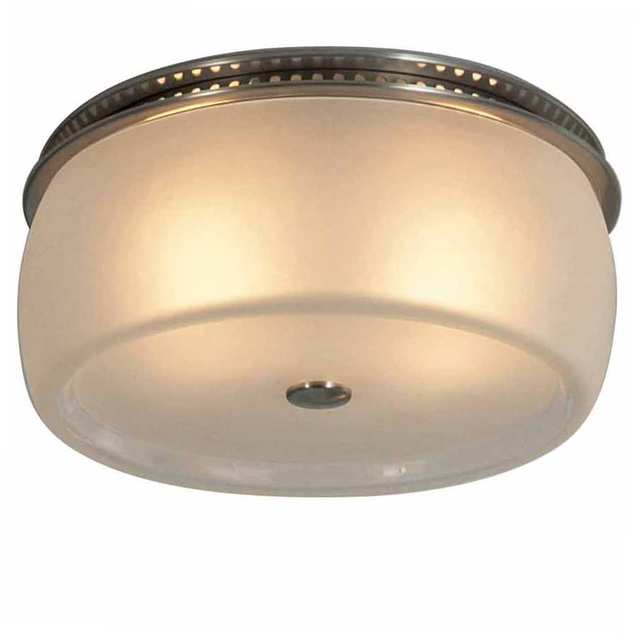 allen + roth 1.5-Sone 90-CFM Brushed Stainless Steel Bathroom Fan with Light