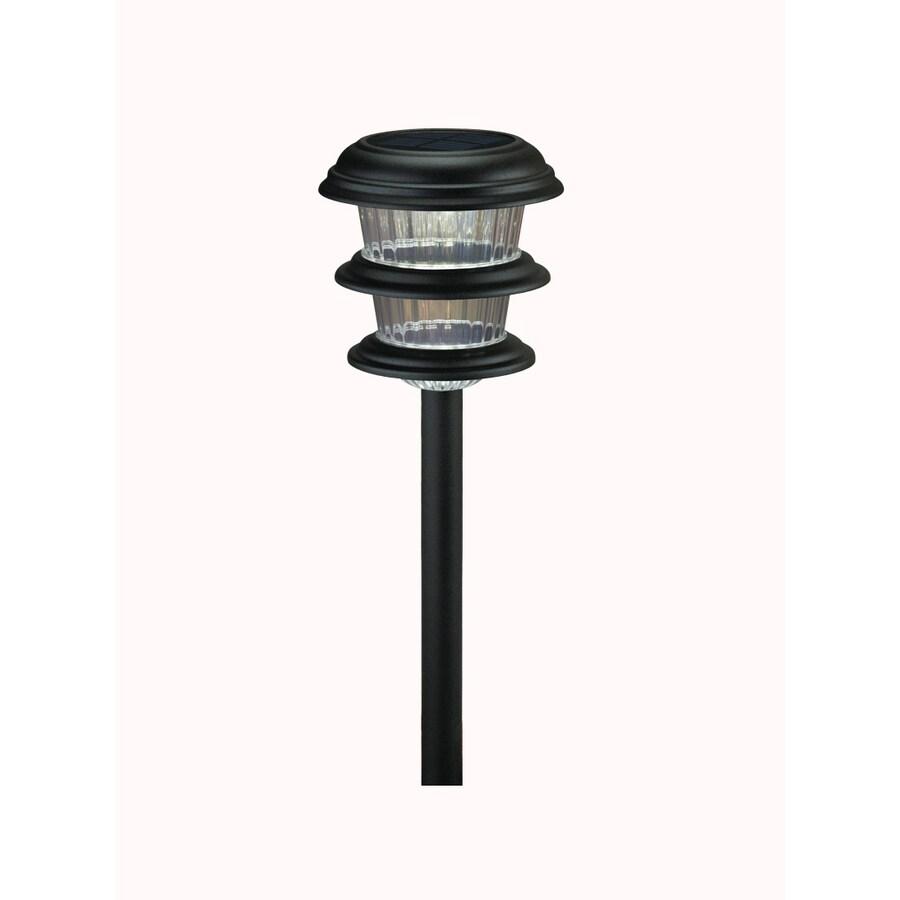 Portfolio Black Solar-Powered LED Path Light