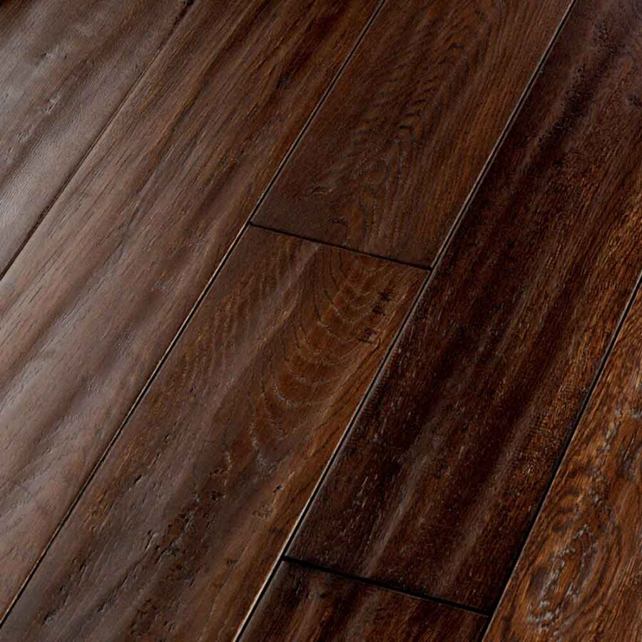 Shop natural floors by usfloors exotic 5 in hickory brown for Hickory flooring