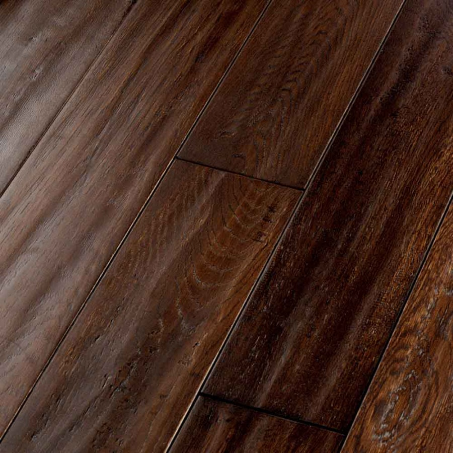 Shop natural floors by usfloors exotic 5 in hickory brown for Natural floors