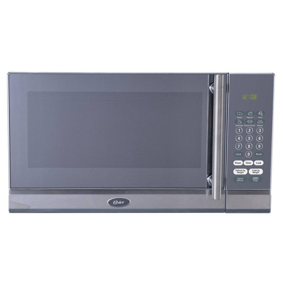 Oster 0.7-cu ft 700-Watt Countertop Microwave (Silver)