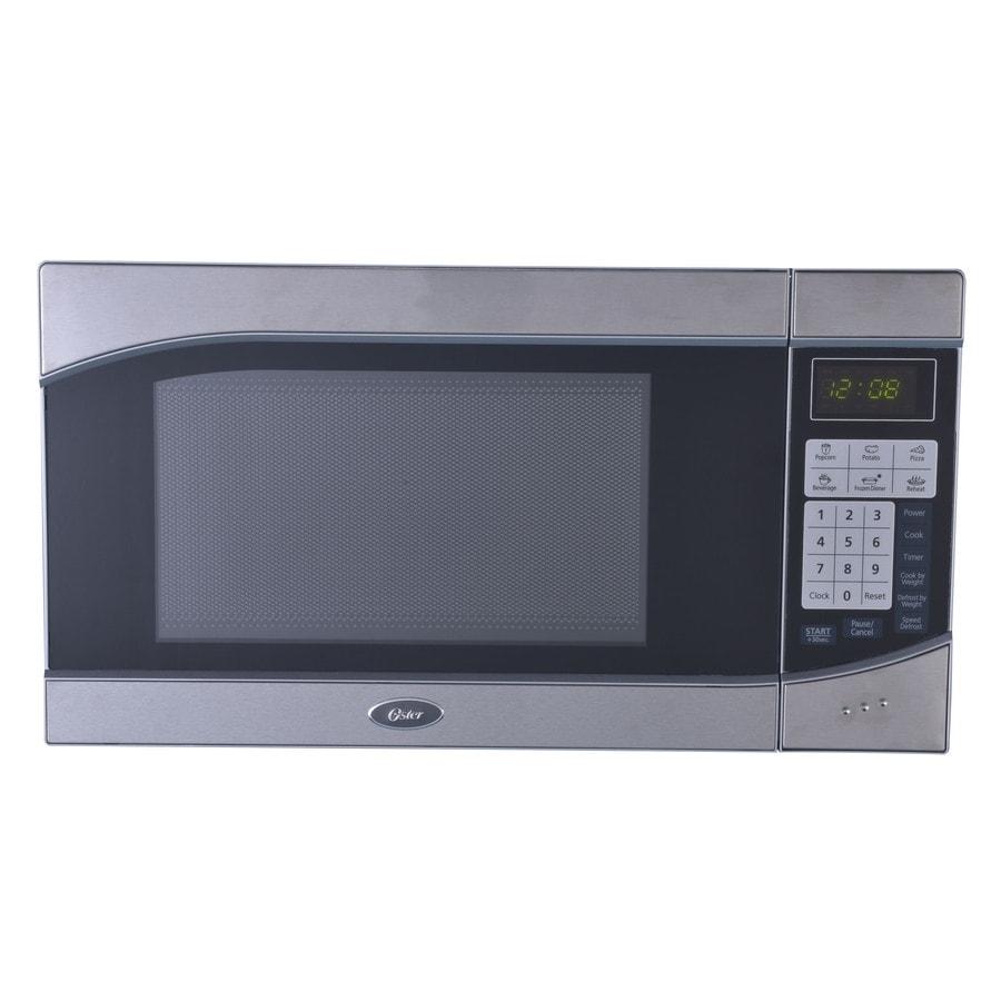 Oster 0.9-cu ft 900-Watt Countertop Microwave (Stainless/Black)