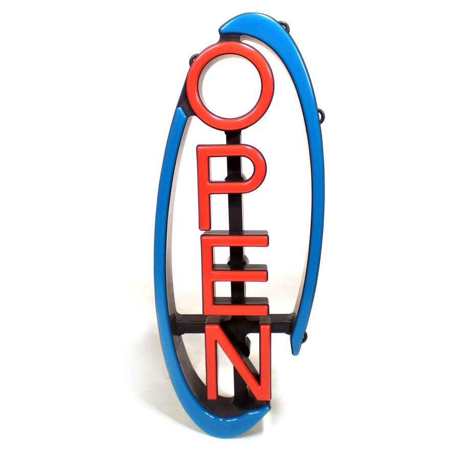 Shop Open Sign Lights: Shop MystiGlo 9-in Multi-Function LED Open Neon Sign At