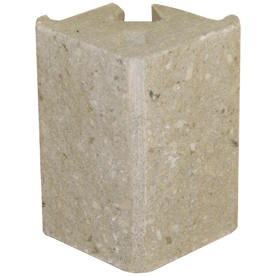 Novabrik 4-in x 6-in Marble White Outside Corner Block Brick Veneer Trim